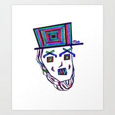 Colored Lincoln Art Print