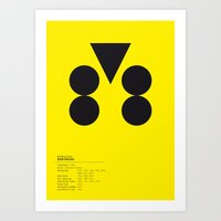 Dortmund Geometric Logo Art Print