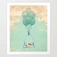 flight to freedom Art Print