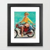 Gil Elvgren - Motorcycle… Framed Art Print