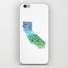 Typographic California - Cool iPhone & iPod Skin
