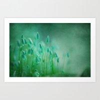 Green Microcosmos Art Print