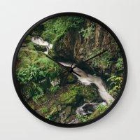 Waterfall Near Aira Forc… Wall Clock