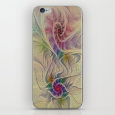 Rainbow Spirals iPhone & iPod Skin