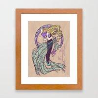 Spider Nouveau Framed Art Print