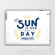 Heraclitus - The sun is new each day Laptop & iPad Skin