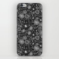 black and white floral iPhone & iPod Skin