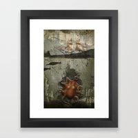 Paper III :: Octopus/shi… Framed Art Print