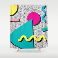 Abstract 1980's Shower Curtain