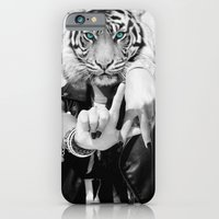 iPhone Cases featuring TIGER GIRL by Andrea Vietti