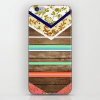 chevron  wood design iPhone & iPod Skin