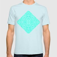 Radiate (Mint) Mens Fitted Tee Light Blue SMALL