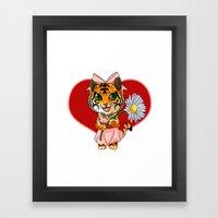 Flower for you Framed Art Print