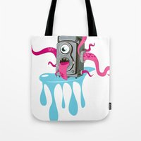 Monster Camera Tote Bag