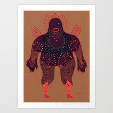 B O U N C E R Art Print
