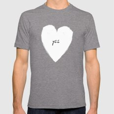 yes! Mens Fitted Tee Tri-Grey SMALL