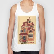 Victorian House Unisex Tank Top