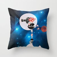 Space Flight Throw Pillow