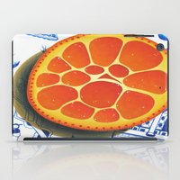 Orange on plate made where they speak Mandarin iPad Case