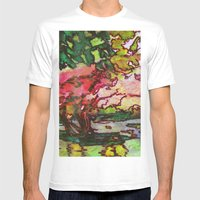 Cherry Blossom Time Mens Fitted Tee White SMALL