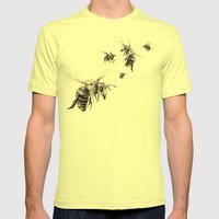 Crown Of Bees Mens Fitted Tee Lemon SMALL