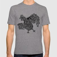 Fowl Mens Fitted Tee Tri-Grey SMALL