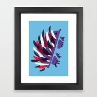 Colorful Abstract Hedgehog Framed Art Print