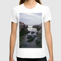 Dark And Rocky Coastline Womens Fitted Tee White SMALL
