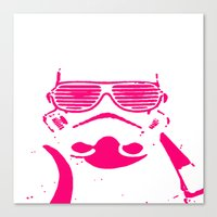 Pink Trooper Canvas Print