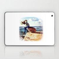 Girl On A Stone Laptop & iPad Skin