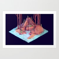 Chunk of Land Art Print