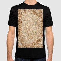 Petrified Wood Kaleidoscope Mens Fitted Tee Black SMALL