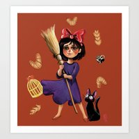 Kiki and Jiji Art Print