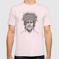 Crown of Thorns Mens Fitted Tee Light Pink SMALL