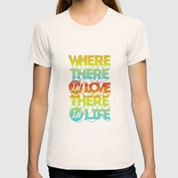 Where There Is Love, The… Womens Fitted Tee Natural SMALL