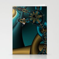 Spider Chain Fractal Stationery Cards