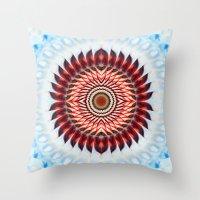 Windmill mandala Throw Pillow