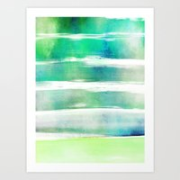 waves - turquoise Art Print