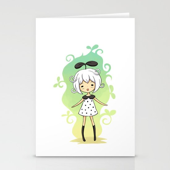 Bean Girl Stationery Card