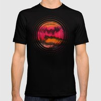 Watercolor abstract landscape 26 Mens Fitted Tee Black SMALL