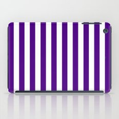 Vertical Stripes (Indigo/White) iPad Case