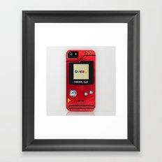 Retro Nintendo Gameboy P… Framed Art Print