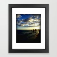 Clouds Circling The Twel… Framed Art Print