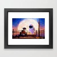 Wall-E & Eve - Painting … Framed Art Print