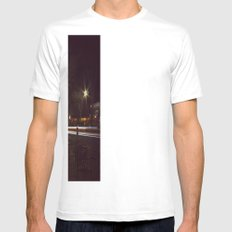 Small Town, Fast Lights Mens Fitted Tee SMALL White