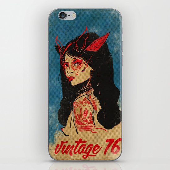 vintage 76 (wicked) iPhone & iPod Skin