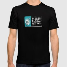 Do You Have a Moment to Talk About Our Savior? Black Mens Fitted Tee SMALL