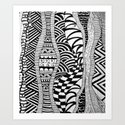 Line Tangle - Zentangle Art Print
