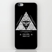 Legend of Zelda Kingdom of Hyrule Crest Letterpress Vector Art iPhone & iPod Skin