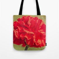 Red Carnation. Tote Bag
